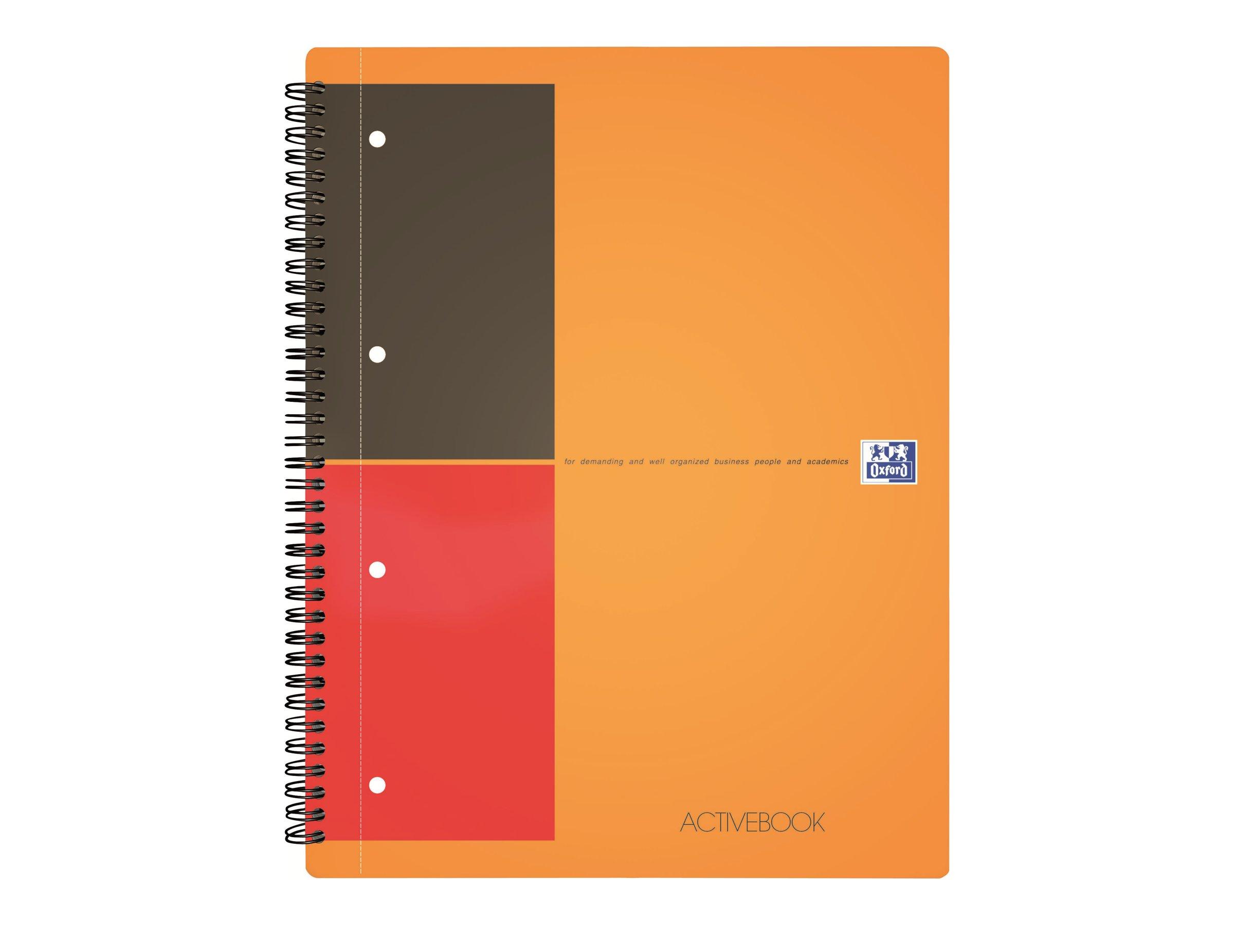 Oxford Activebook - Cahier à spirale A4+ - 160 pages - ligné