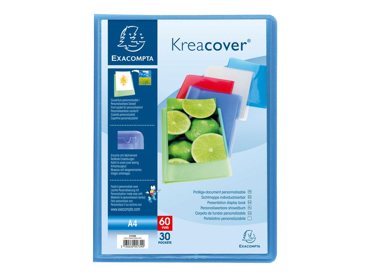 Exacompta KreaCover - Porte vues personnalisable - 60 vues - A4 - disponible dans différentes couleurs