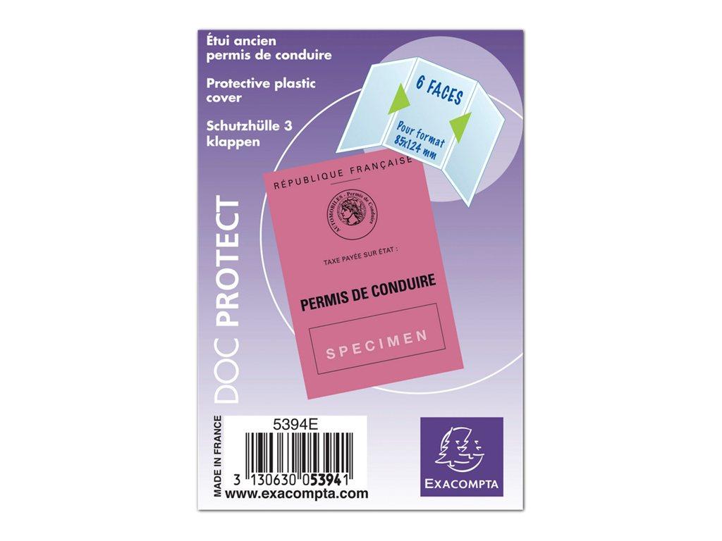 Exacompta - Pochette de protection - 85 x 124 mm - translucide incolore