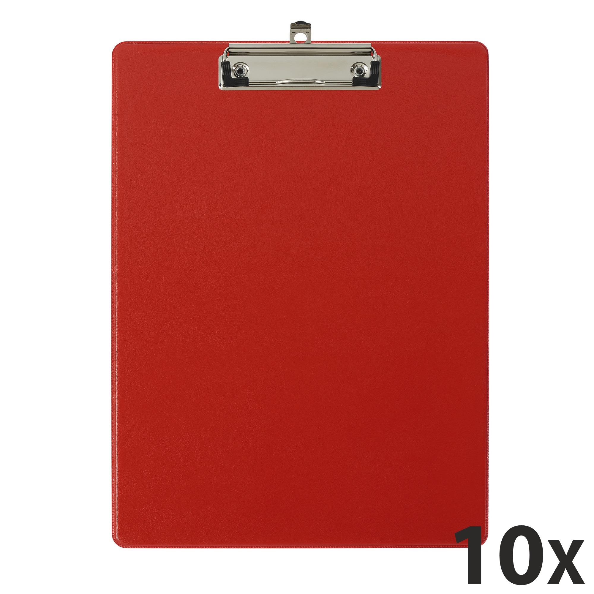 Exacompta - 10 Porte blocs avec pochette - A4 - rouge