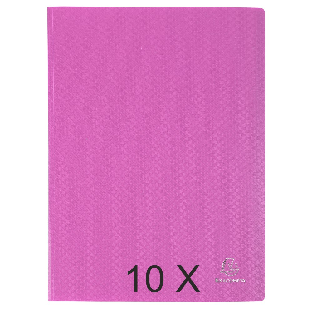 Exacompta Opak - 10 Porte vues - 100 vues - A4 - rose