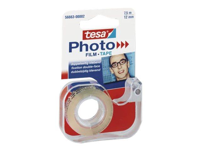 Tesa - Ruban adhésif double face sur dévidoir rechargeable - 12 mm x 7,5 m