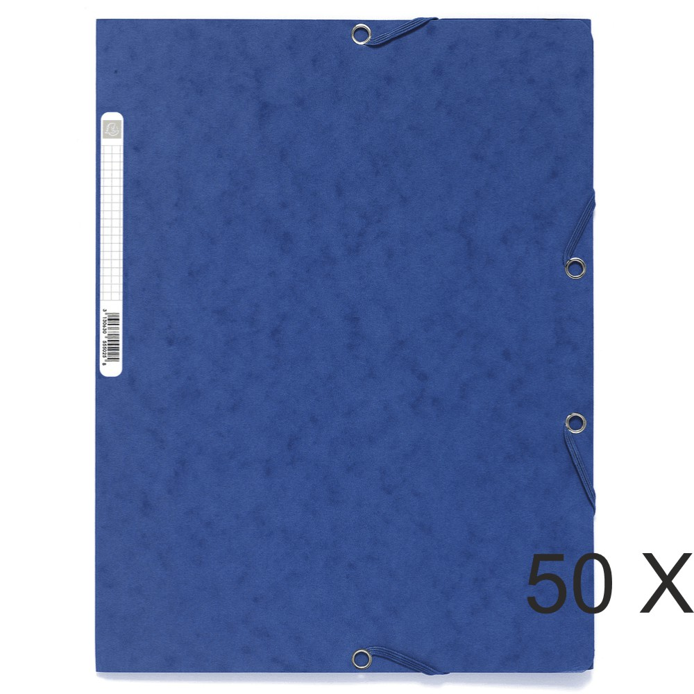 Exacompta - 50 Chemises à 3 rabats - A4 - couleurs assorties