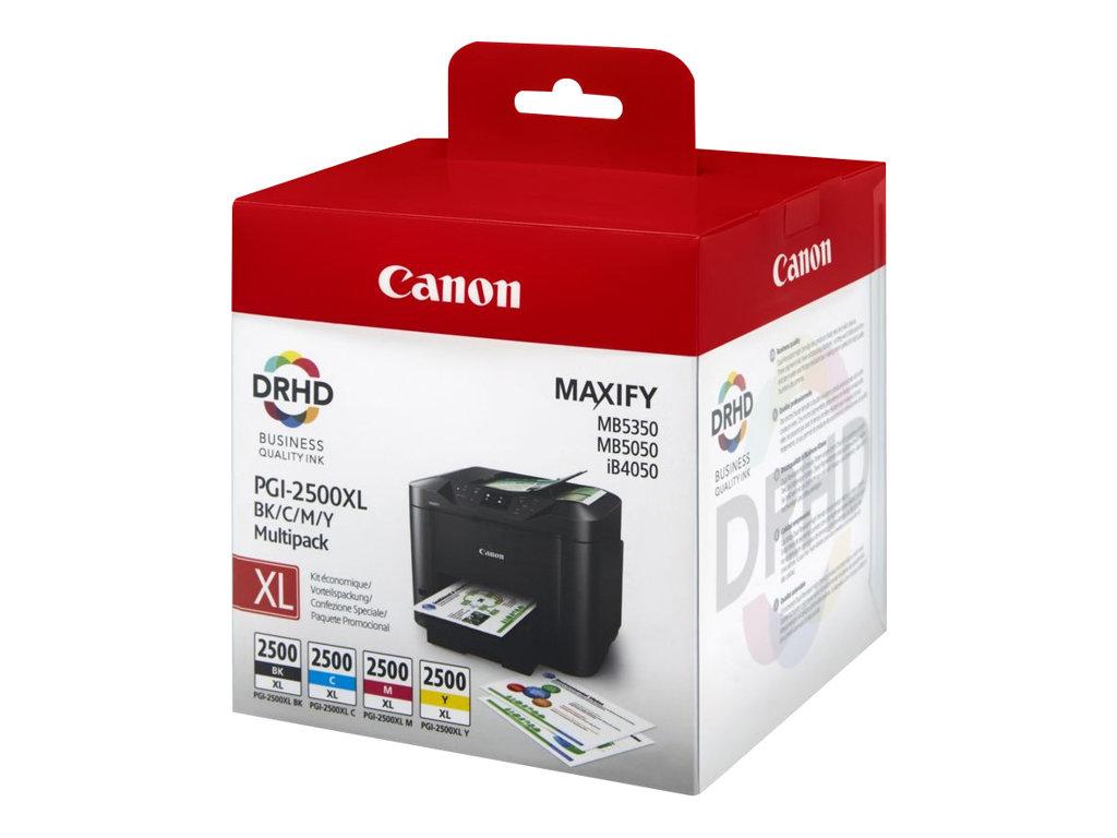 Canon PGI-2500XL - Pack de 4 - noir, cyan, magenta, jaune - cartouche d'encre originale