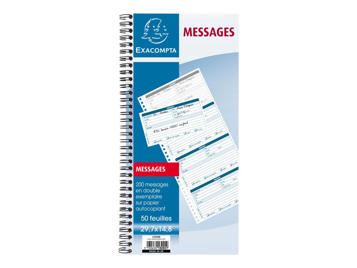 Exacompta - Carnet de messages téléphoniques