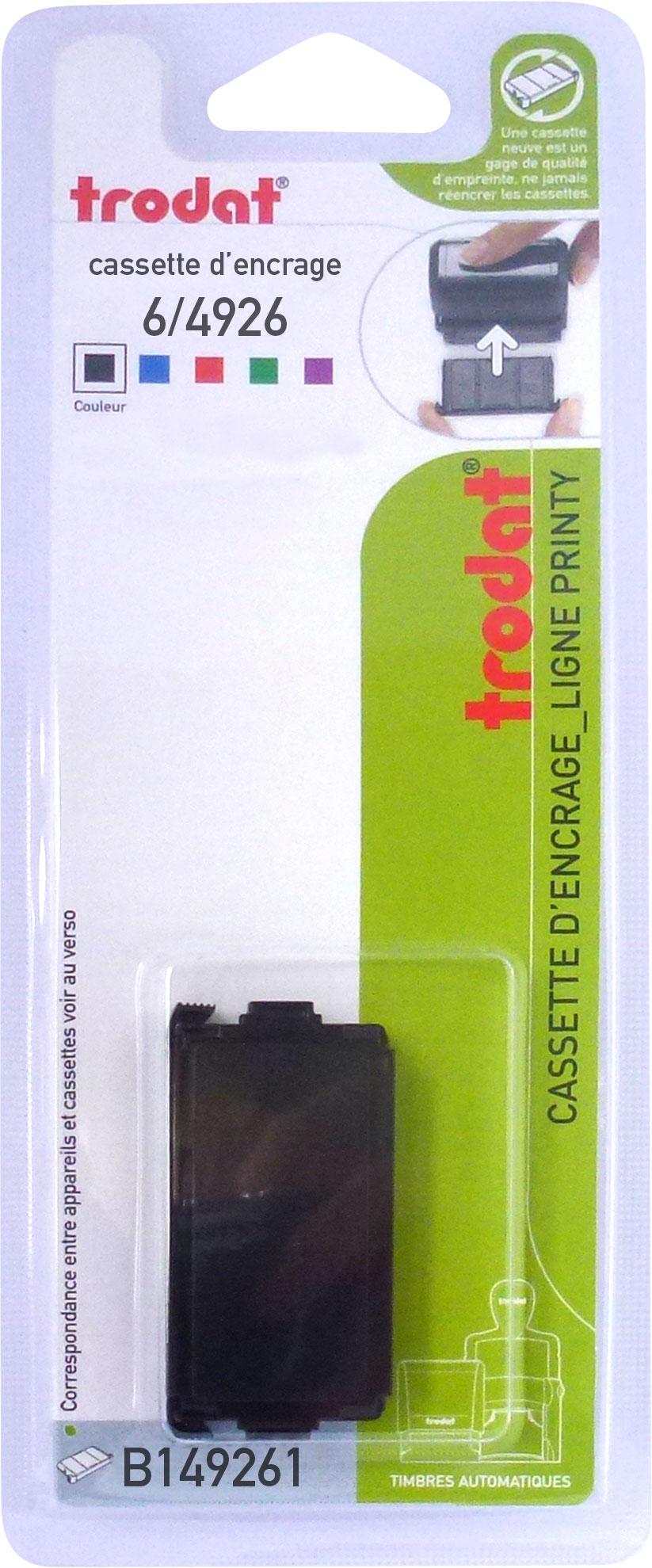 Trodat - Encrier 6/4926 recharge pour tampon Printy 4926/4726 - noir