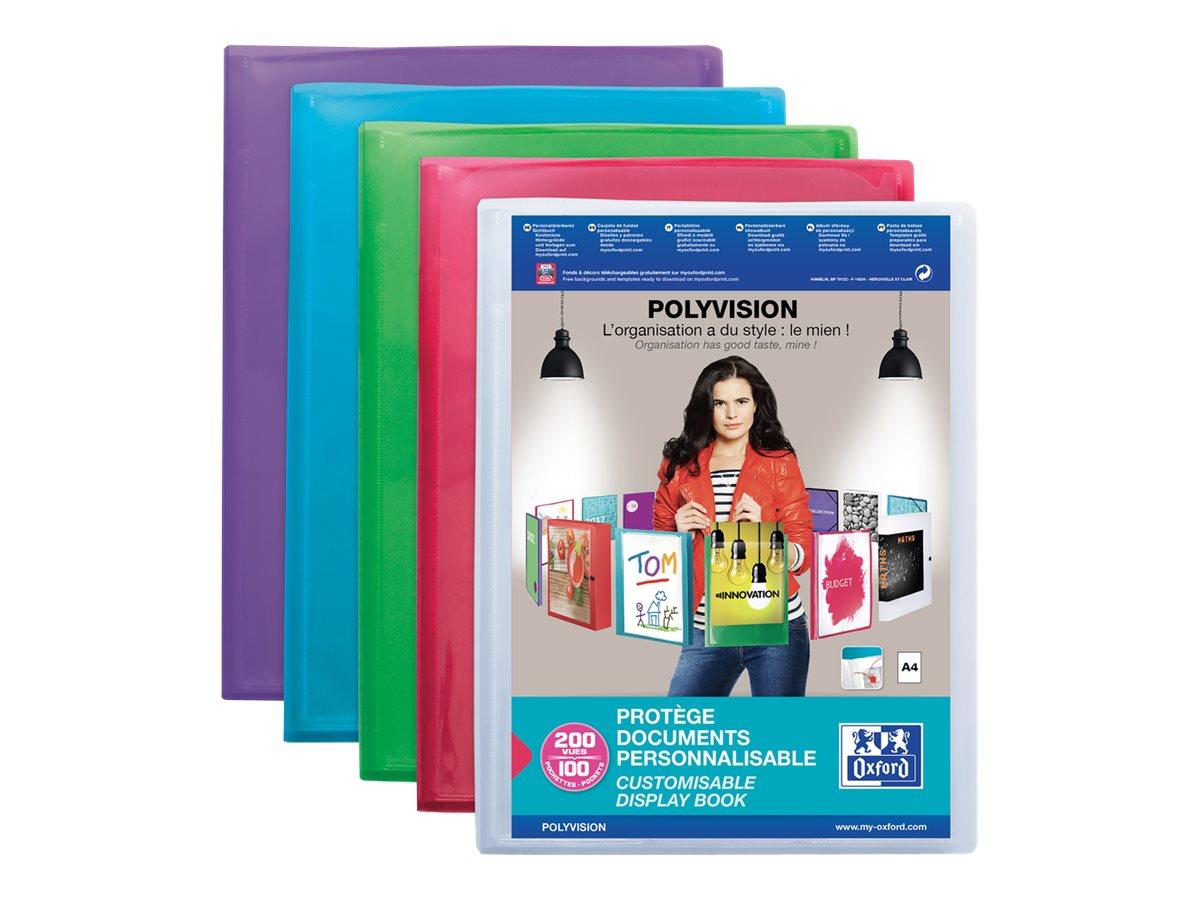 Oxford Polyvision - Porte vues personnalisable - 200 vues - A4 - disponible dans différentes couleurs translucides