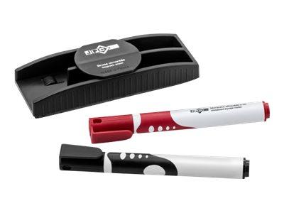 JPC - Kit brosse pour tableau blanc + 2 marqueurs effaçables