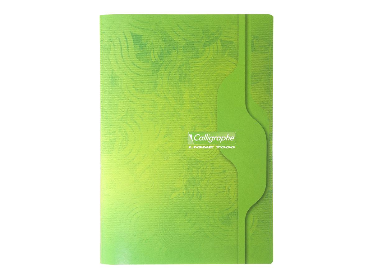 Calligraphe 7000 - Cahier A4 (21x29,7 cm) - 96 pages - grands carreaux (Seyes) - disponible dans différentes couleurs