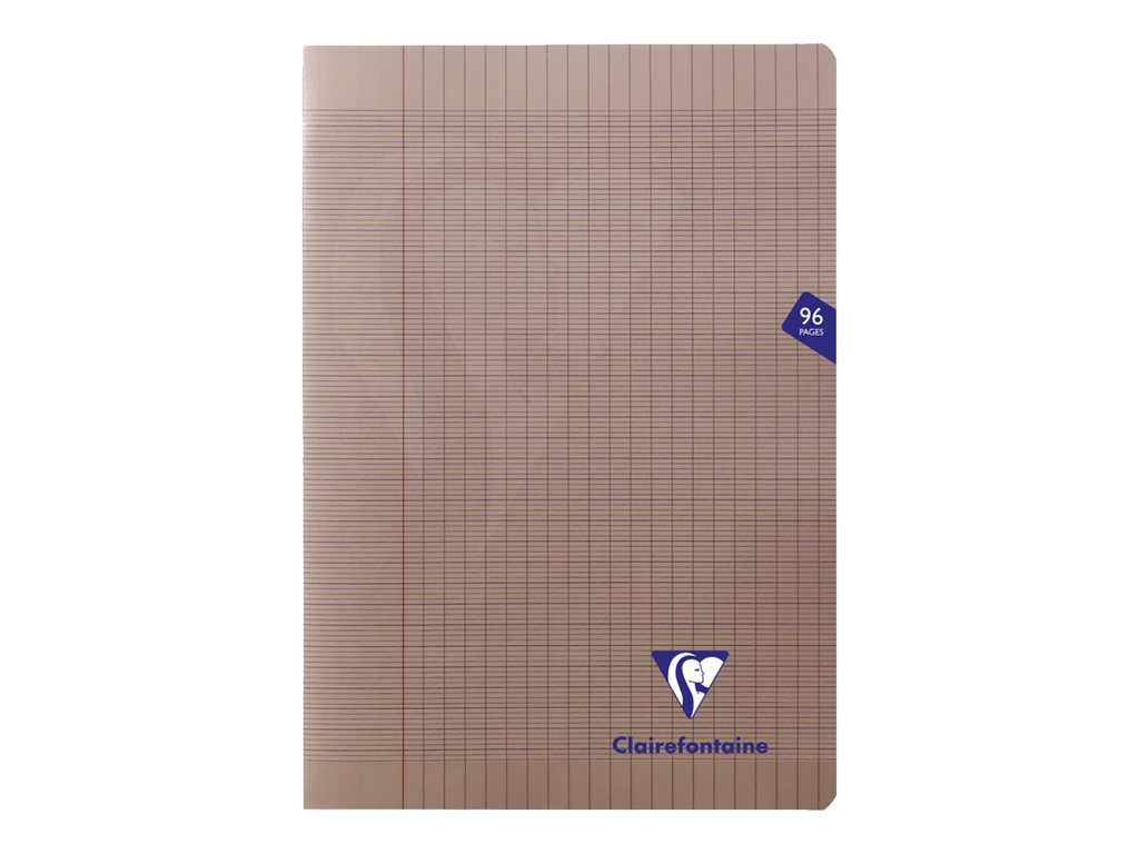Clairefontaine Mimesys - Cahier polypro A4 (21x29,7 cm) - 96 pages - grands carreaux (Seyes) - noir
