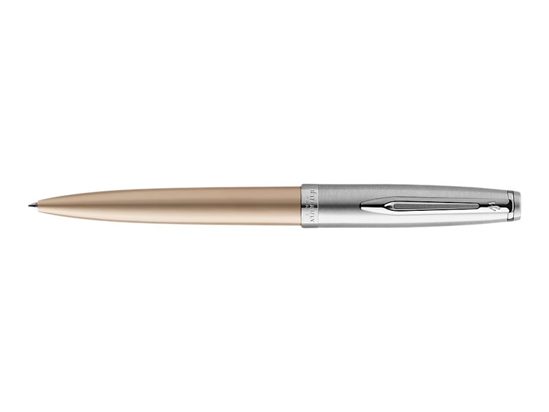 Waterman Deluxe - Stylo à bille chromé or - pointe moyenne