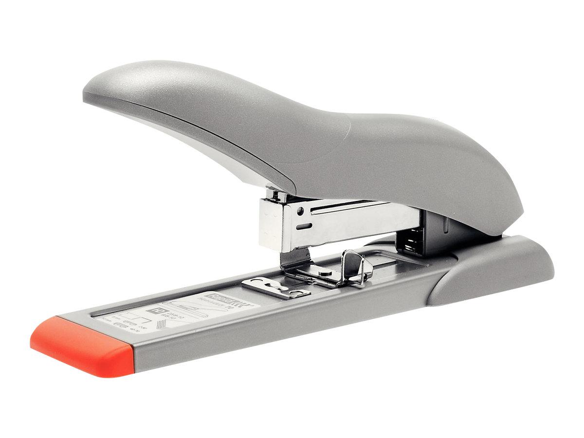 Rapid - Agrafeuse Fashion HD70 argent/orange -  capacité de 70 feuilles - agrafes 23/8 ou 23/10
