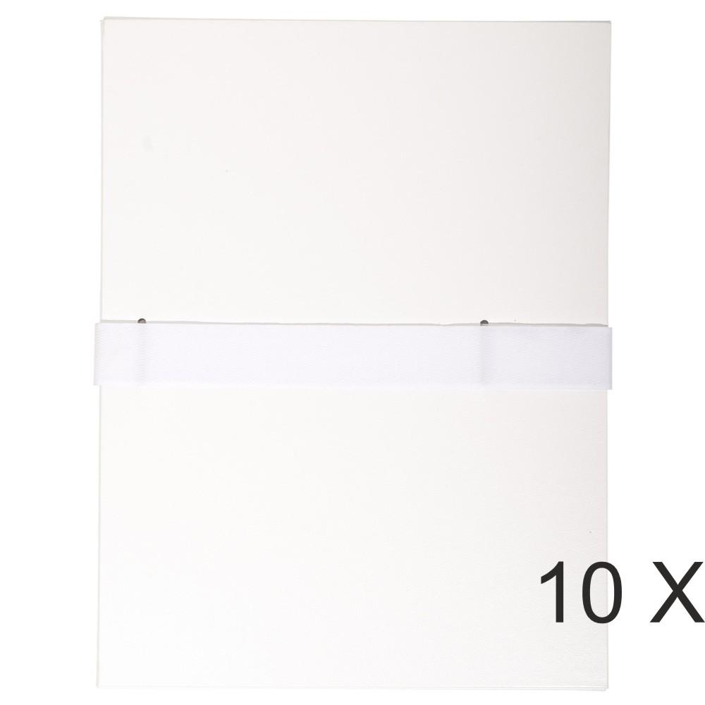 Exacompta - 10 Chemises extensibles 1 rabat à sangle scratch - blanc