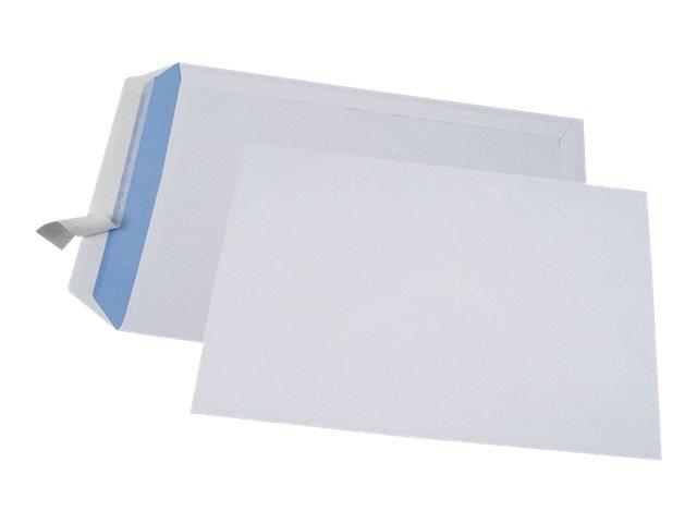 GPV - 250 Pochettes Enveloppes 260 x 330 mm - 90 gr - sans fenêtre - blanc - bande adhésive