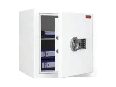 Reskal SB600EL - Coffre-fort à valeur assurable 56L - à code - acier blanc