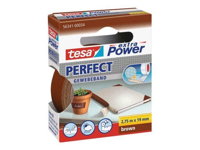 Tesa extra Power Perfect - Ruban adhésif en toile - 19 mm x 2.75 m - havane