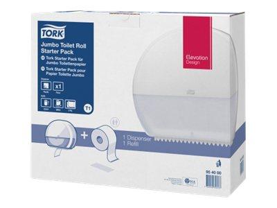 Tork Elevation Starter Pack Jumbo T1 - Distributeur de papier toilette vendu avec 1 rouleau