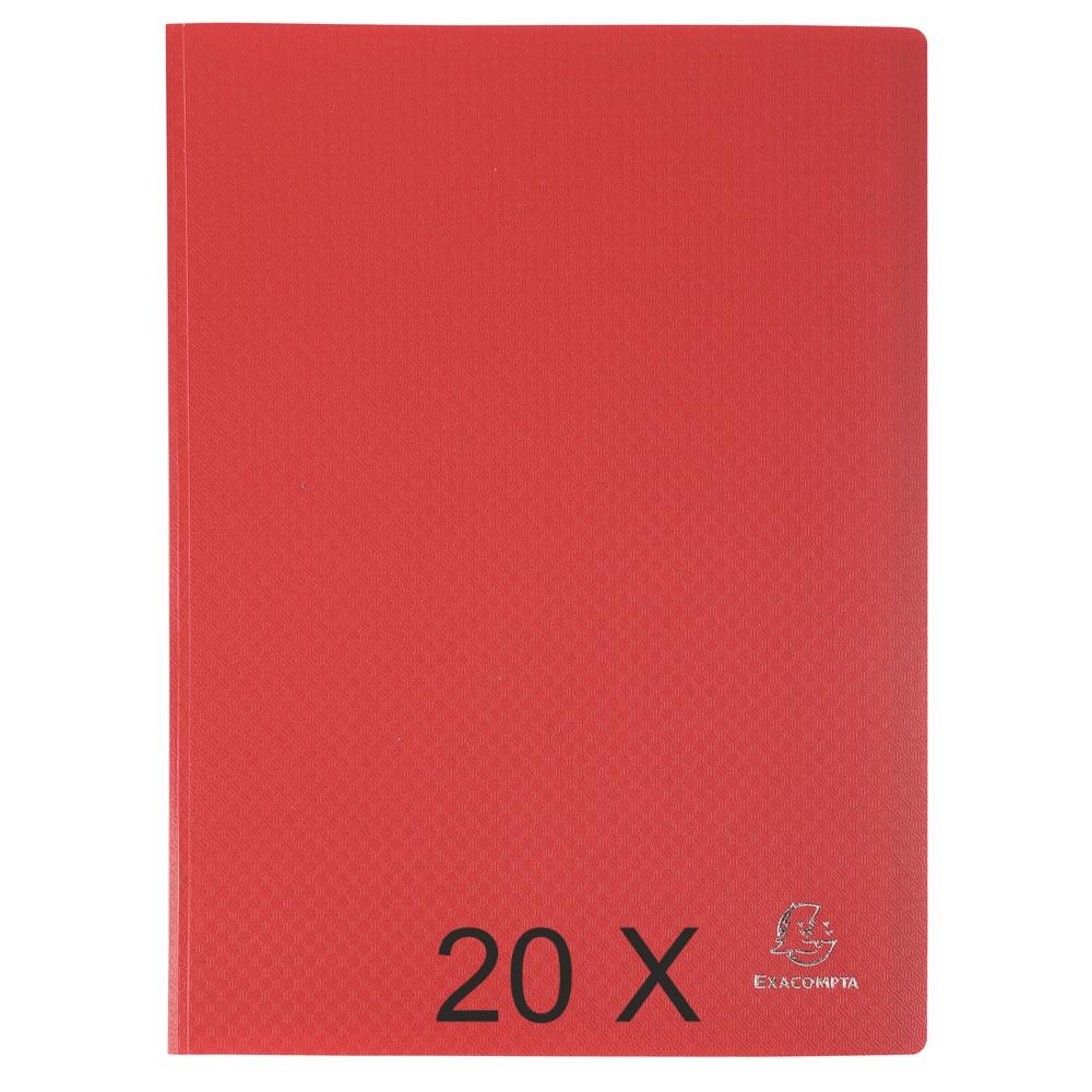 Exacompta Opak - 20 Porte vues - 40 vues - A4 - rouge