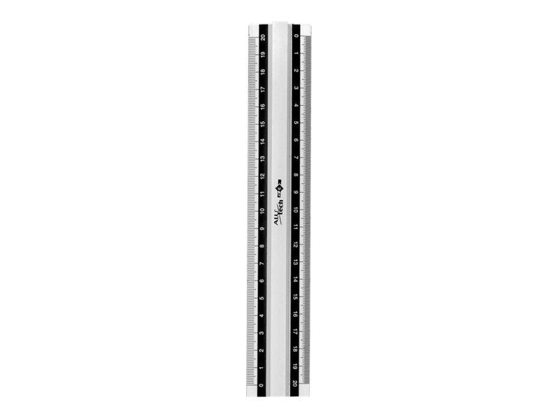 JPC  règle (double décimêtre)  20 cm    aluminium