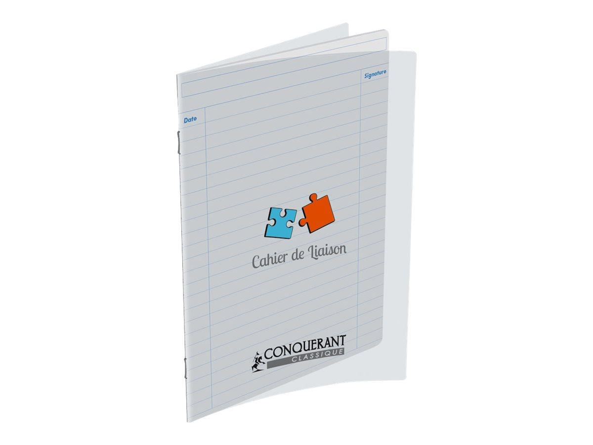 Conquérant Classique - Cahier de liaison - 17 x 22 cm - 48 pages - ligné
