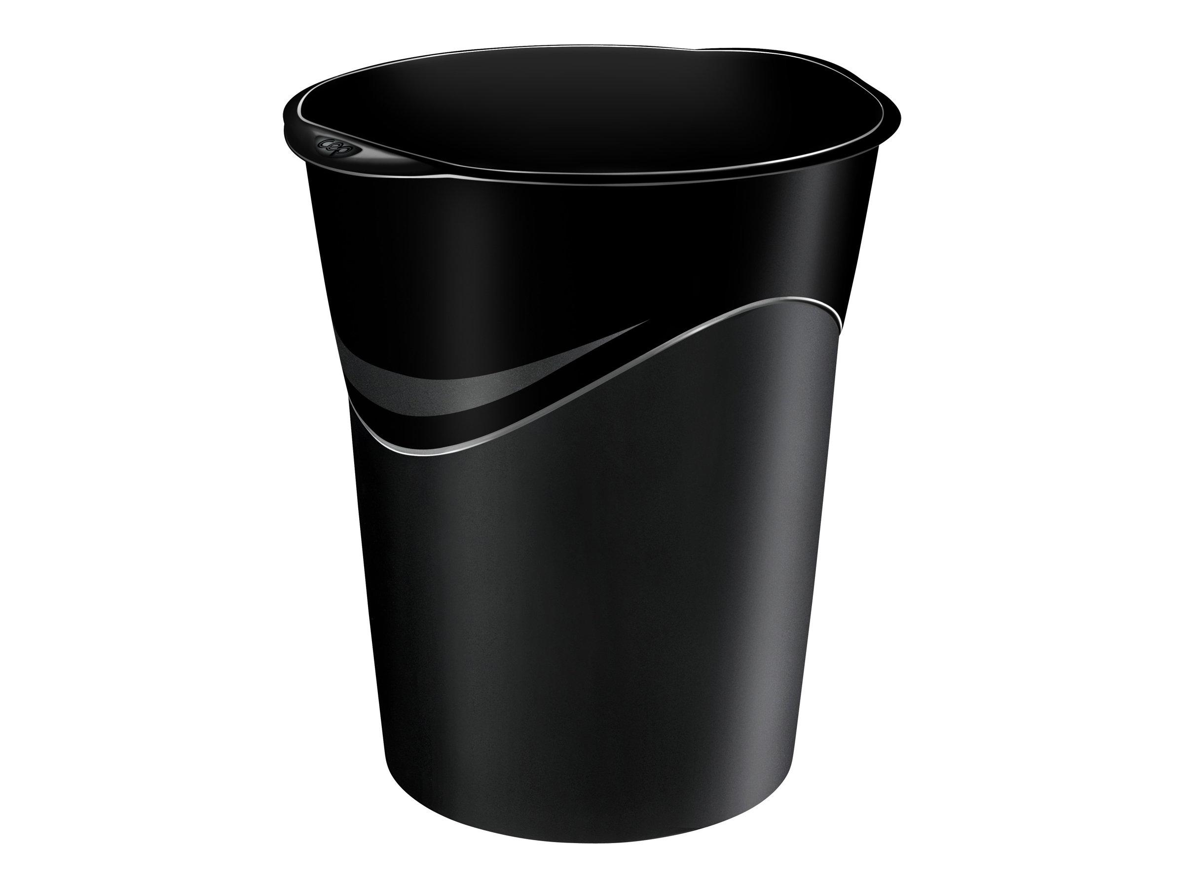 CEPPro - Corbeille à papier 14L - noir