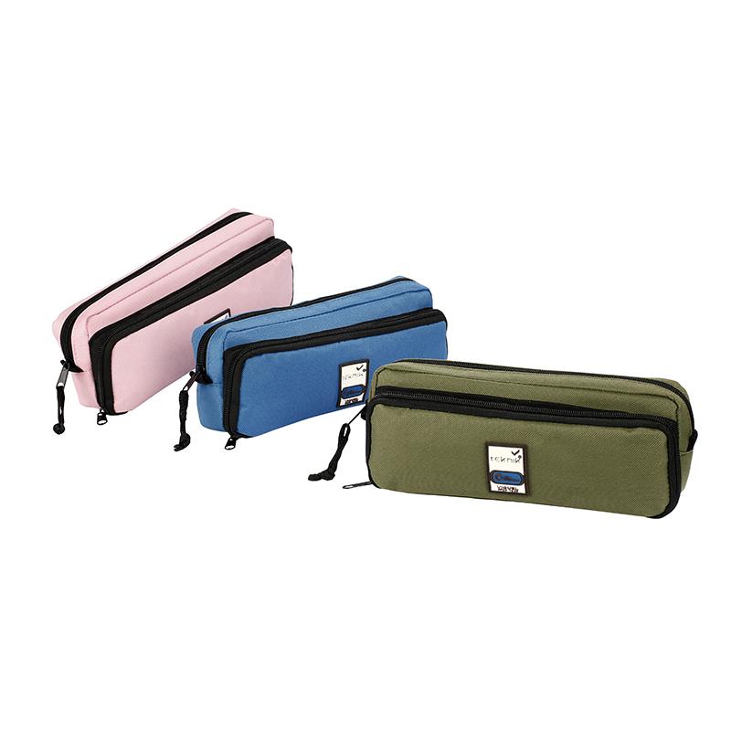 Trousse rectangulaire Big Teknik - 2 compartiments - disponible dans différentes couleurs - Viquel