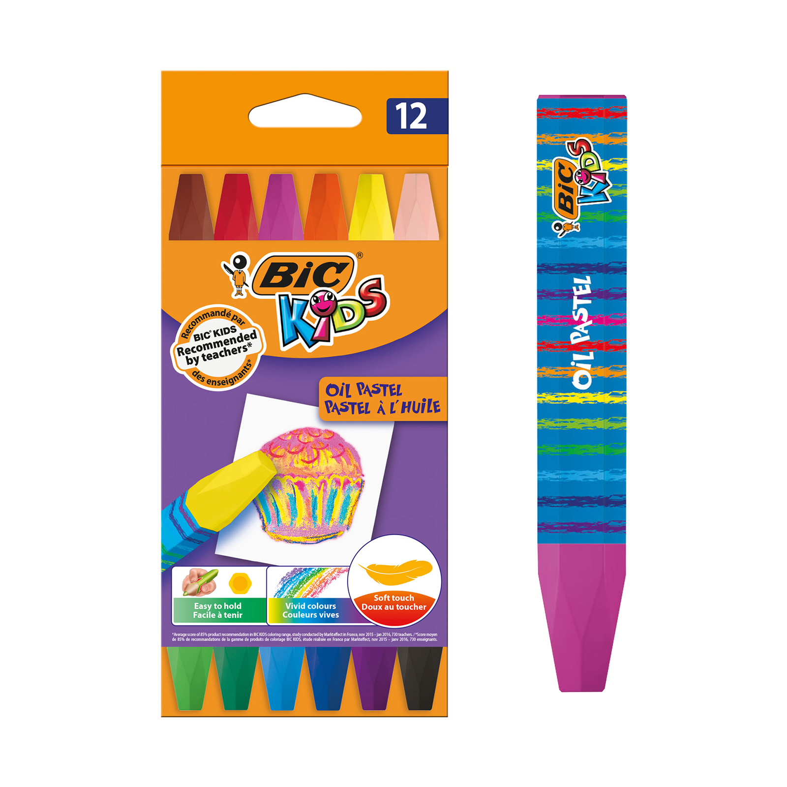 BIC Kids - 12 Pastels à l'huile