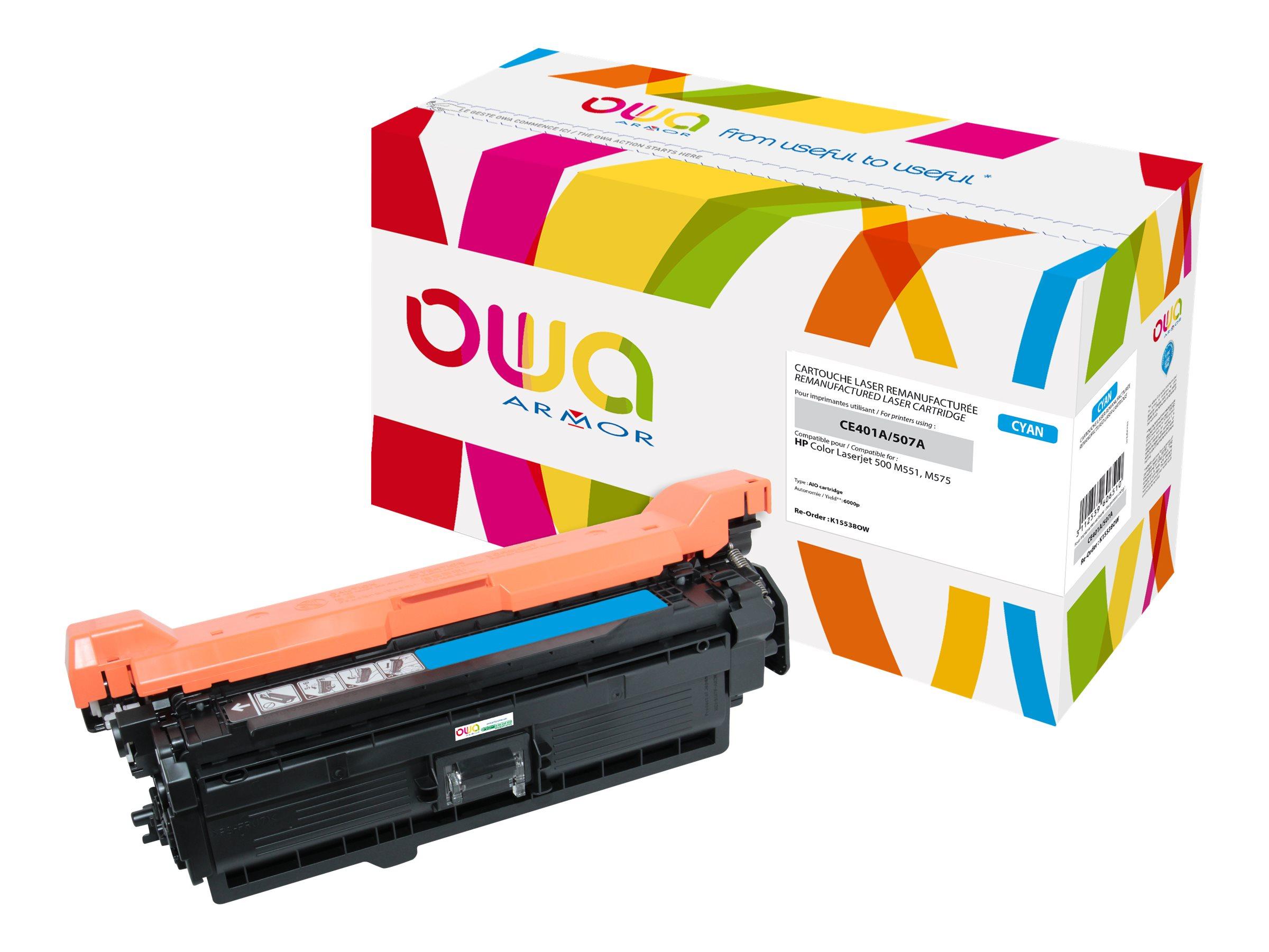 HP 507A - remanufacturé Owa K15538OW - cyan - cartouche laser