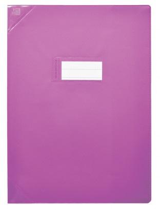 Oxford Strong Line - Protège cahier sans rabat - 17 x 22 cm - violet opaque
