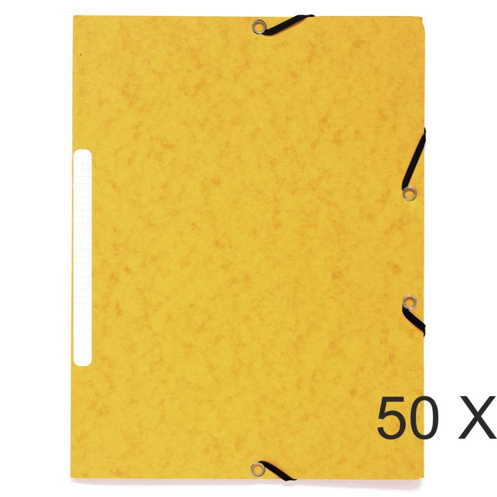 Exacompta - 50 Chemises recyclées à 3 rabats - A4 - jaune