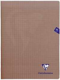 Clairefontaine Mimesys - Cahier polypro 24 x 32 cm - 96 pages - grands carreaux (Seyes) - noir