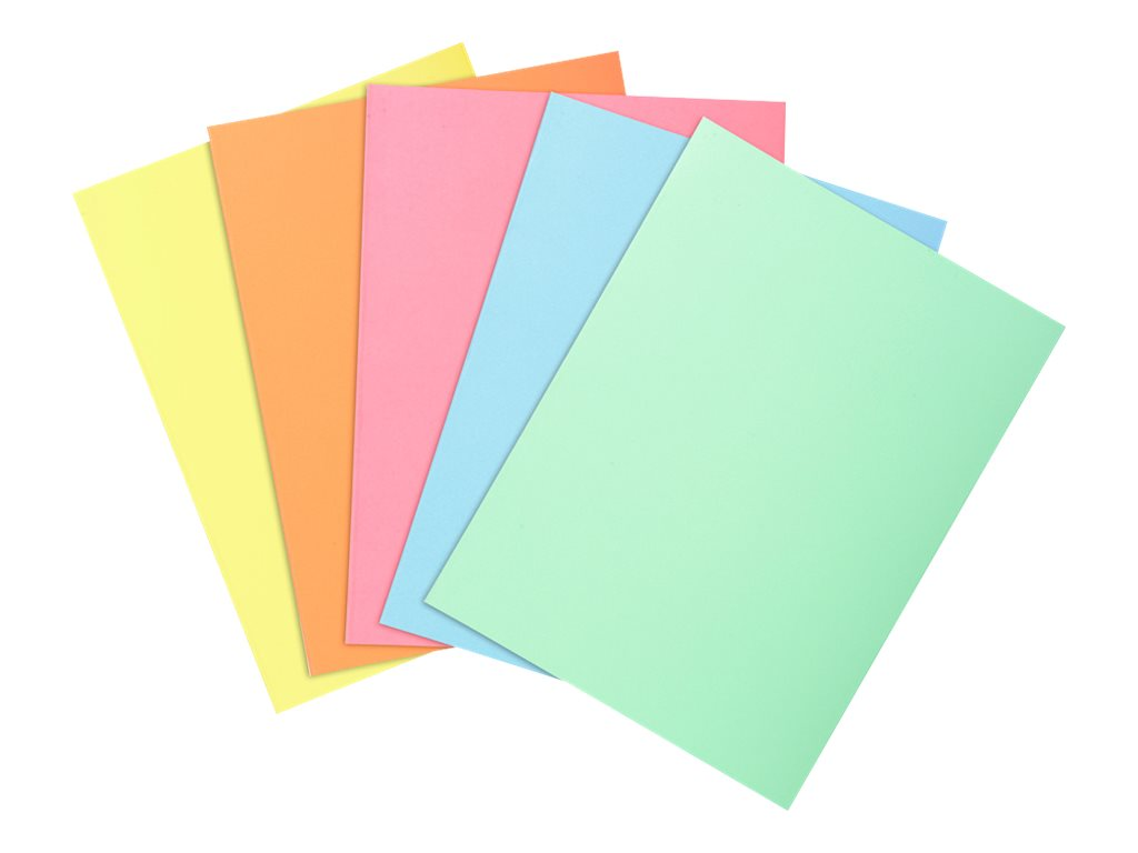 Exacompta Super 60 - 100 Sous-chemises - 60 gr - pour 100 feuilles - couleurs pastels assorties