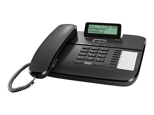 Gigaset DA710 - téléphone filaire - noir