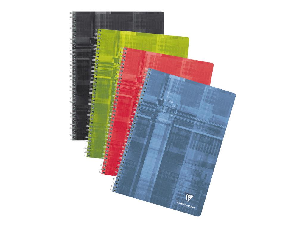 Clairefontaine - Cahier à spirale A4 (21x29,7 cm) - 180 pages - grands carreaux (Seyes) - disponible dans différentes couleurs