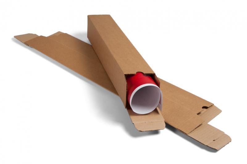 Carton Plus - Tube d'expédition carré - 10,8 cm x 10,8 cm x 43 cm