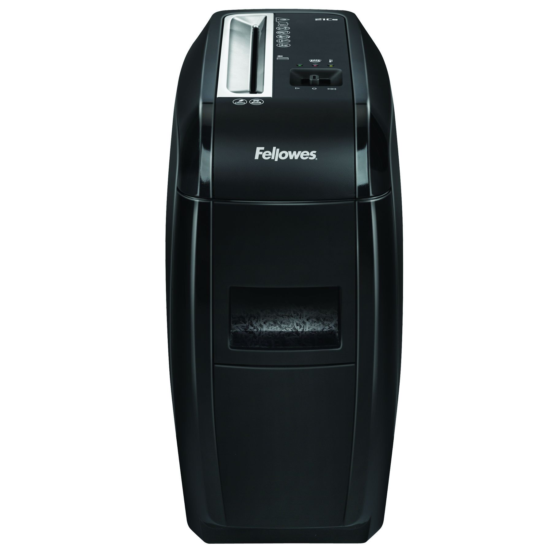 Fellowes Powershred 21Cs - destructeur de documents coupe croisée - 12 feuilles - Corbeille 15 litres