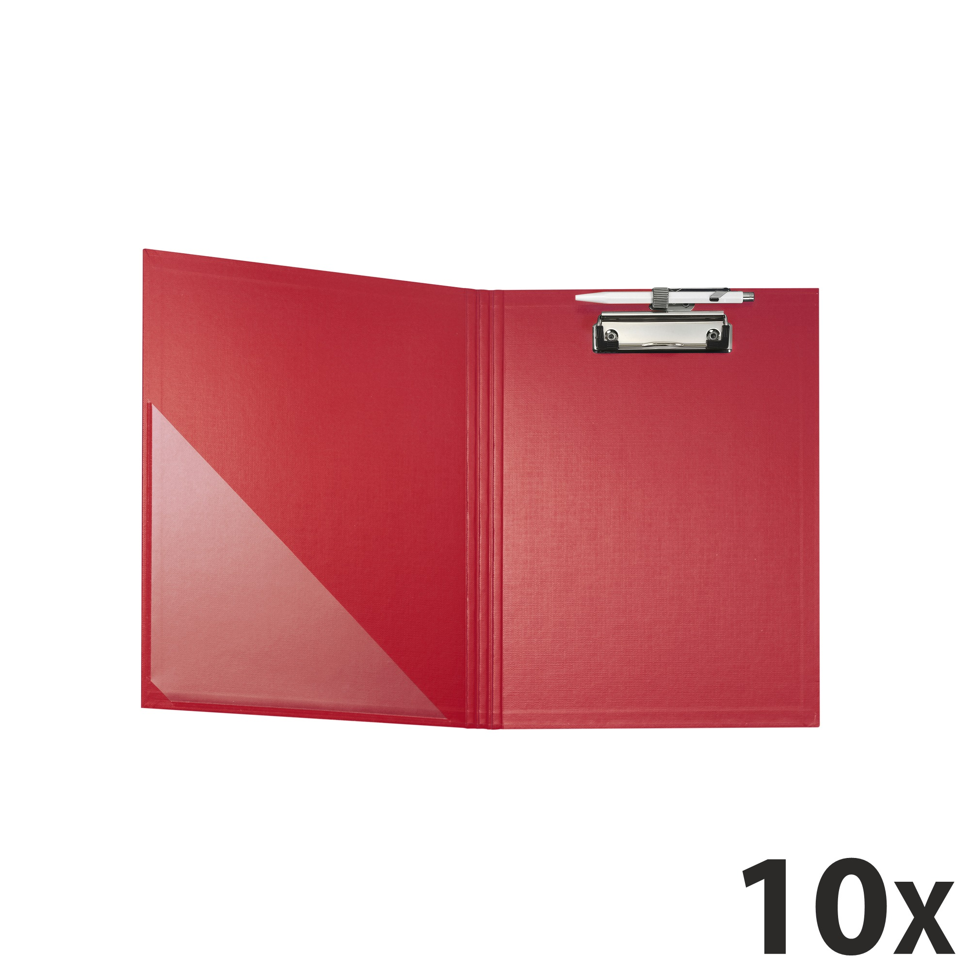 Exacompta - 10 Porte blocs à rabat - A4 - rouge