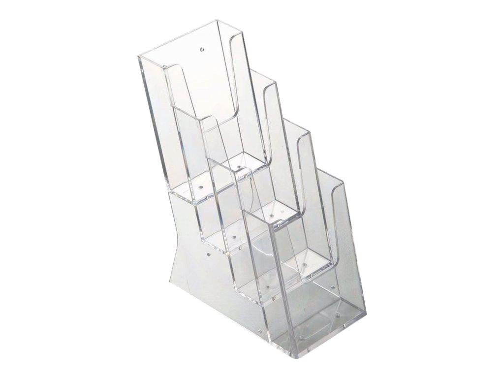 Promocome - Porte-brochures de comptoir A6 - 4 compartiments