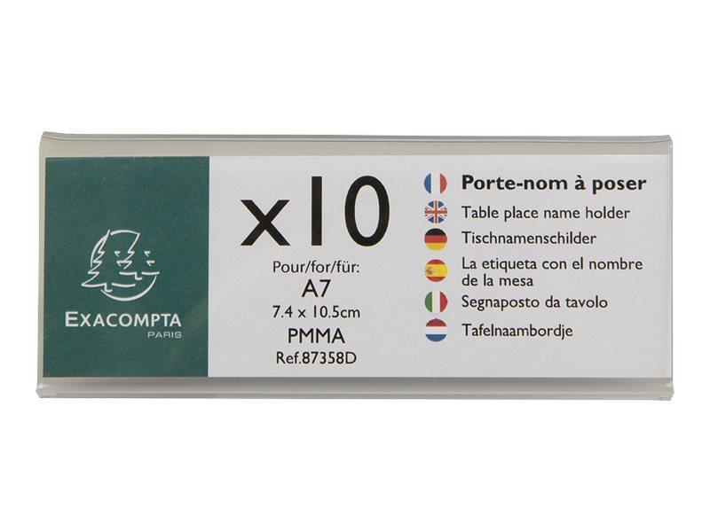 Exacompta - 10 Porte-noms double face - pour 105 x 40 mm