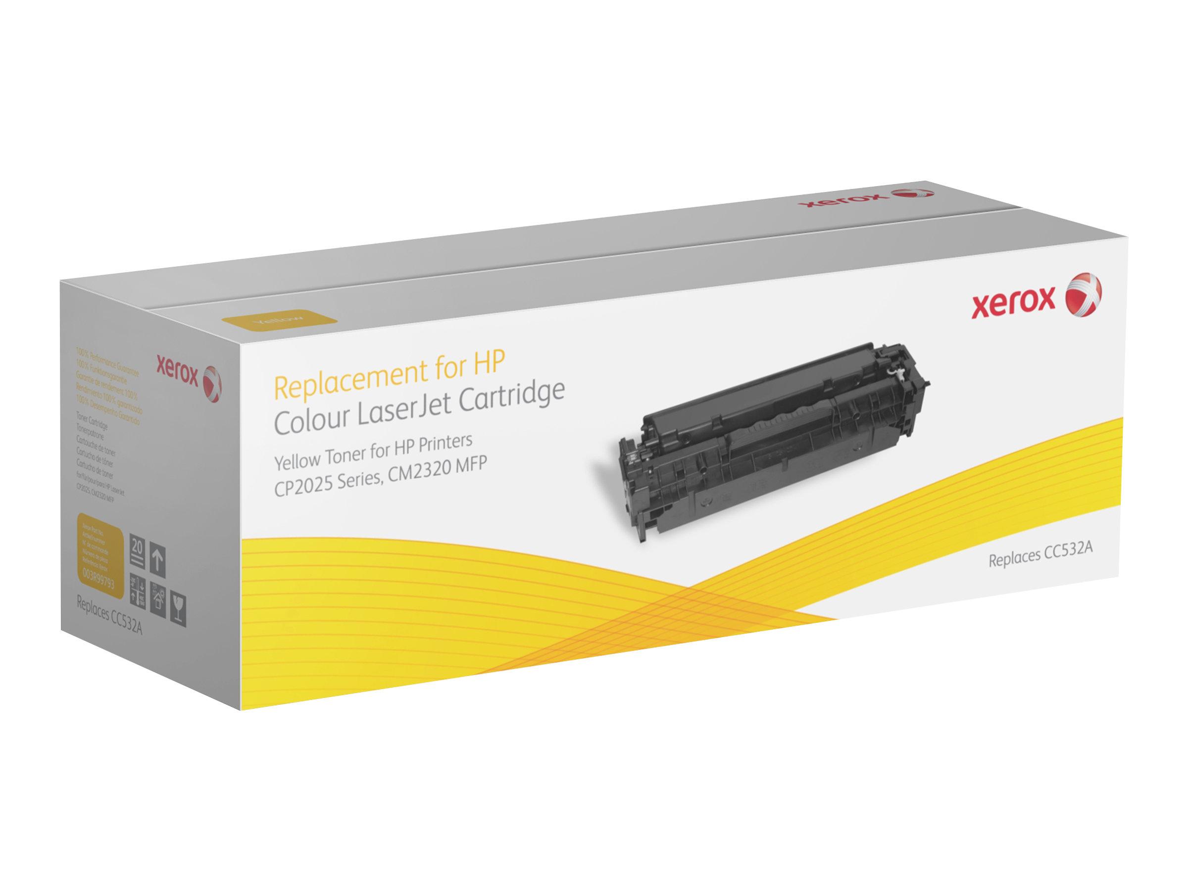 Xerox HP Colour LaserJet CM2320 MFP series - jaune - cartouche de toner (alternative pour: HP CC532A)