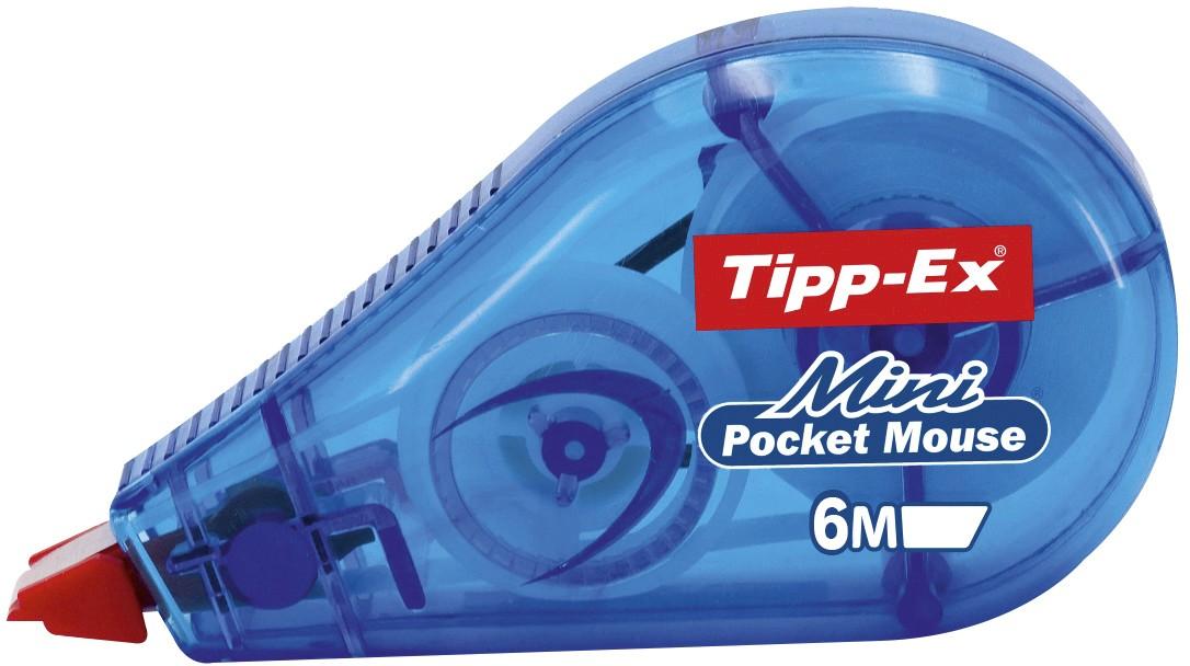 Tipp Ex - Mini correcteur bleu - Pocket Mouse - 6m