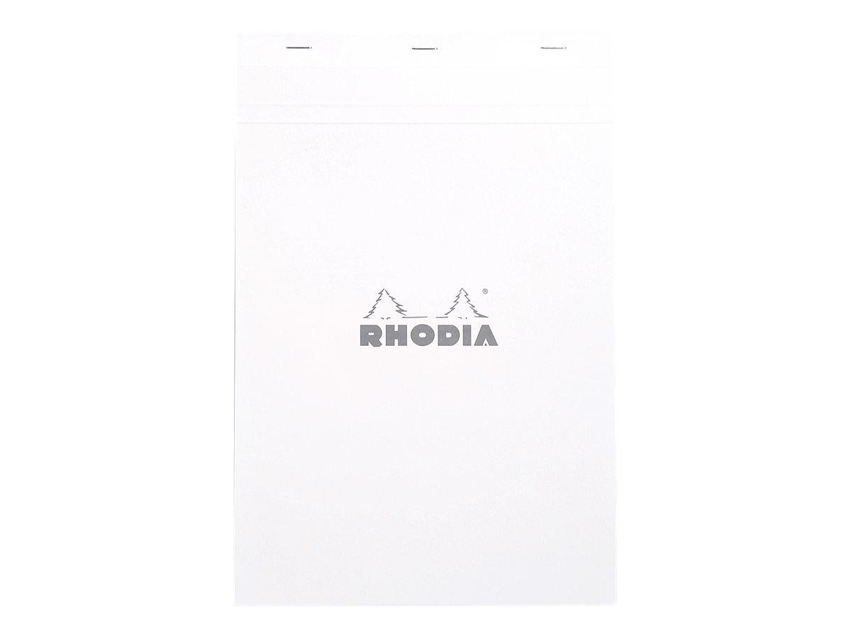Rhodia - Bloc notes N°19 - A4+ - 160 pages - petits carreaux - 80g - blanc
