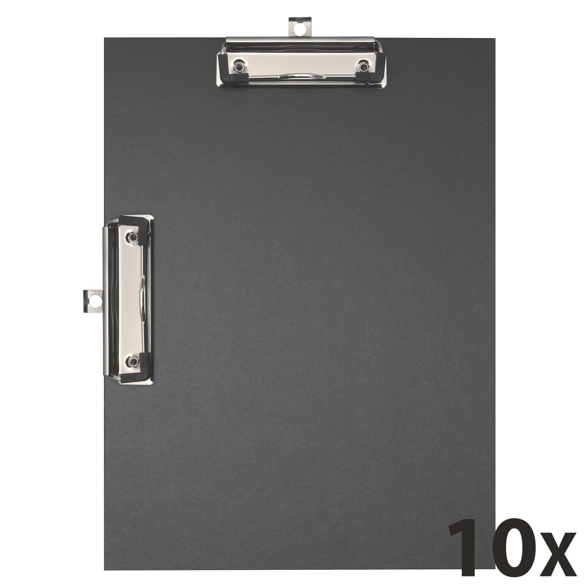 Exacompta - 10 Porte blocs double clips - A4 - noir