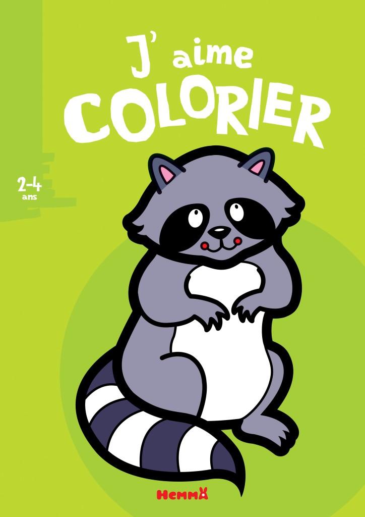 J'aime colorier (2-4 ans) - Raton laveur