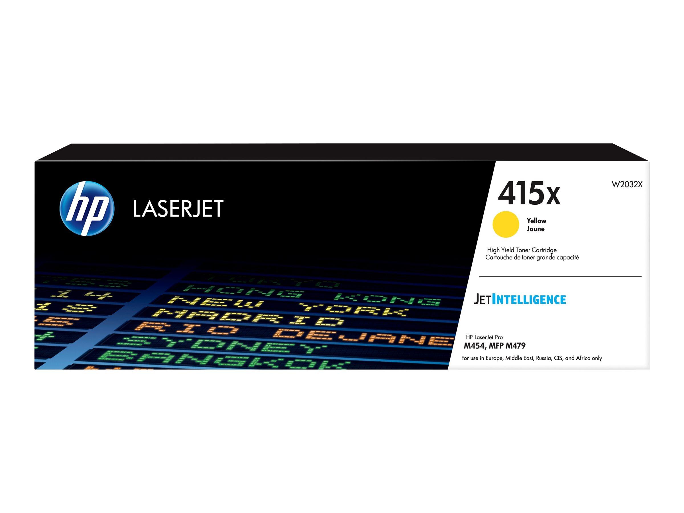 HP 415X - jaune -  cartouche laser d'origine
