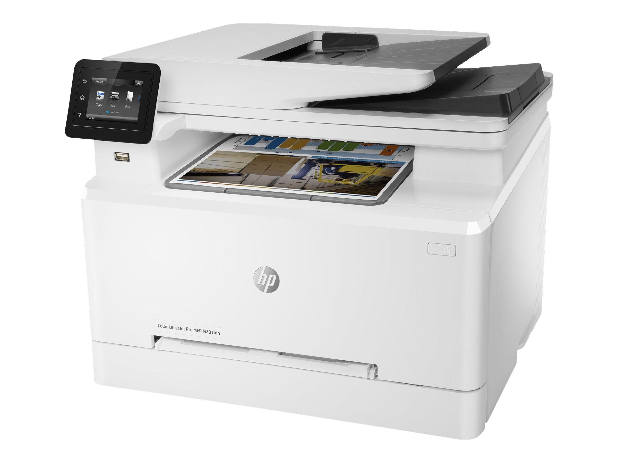 HP Color LaserJet Pro MFP M281fdn - imprimante laser multifonction couleur A4 - recto-verso - wifi