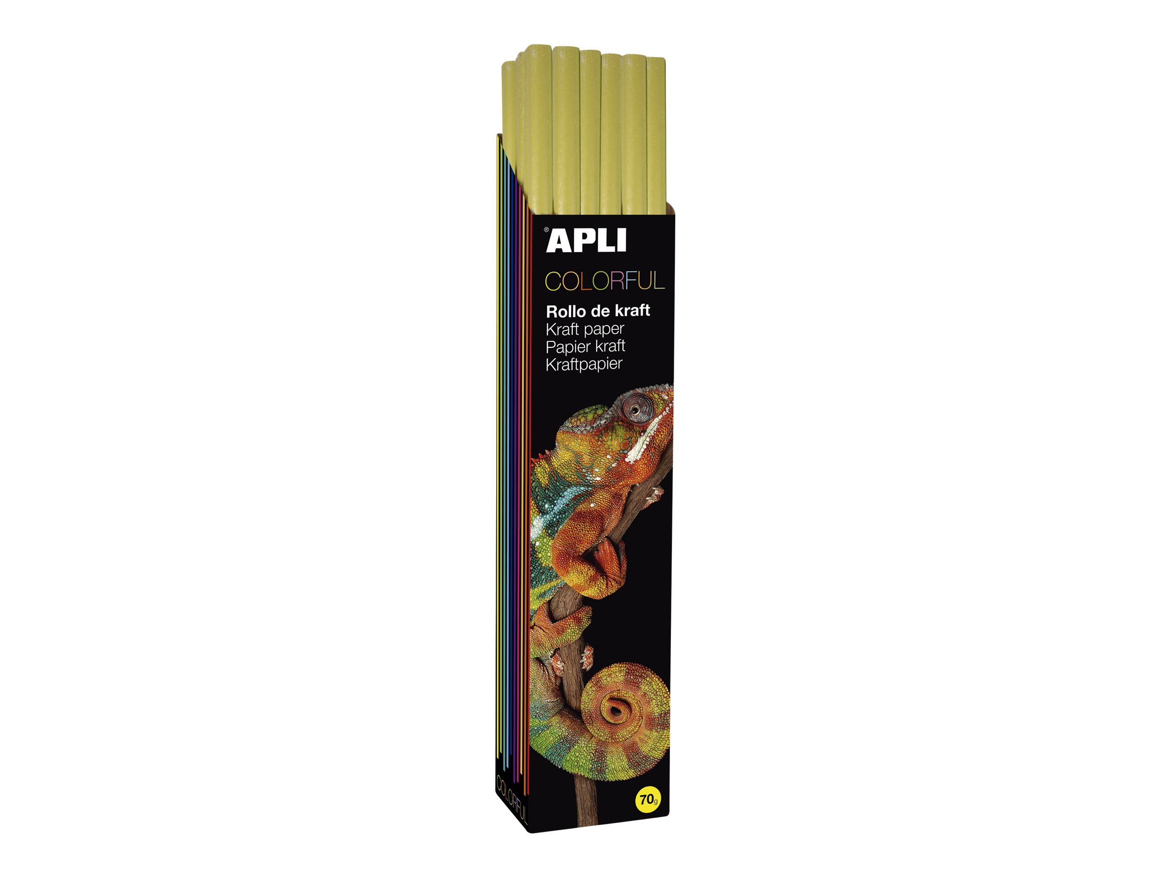 Apli Agipa - Papier cadeau kraft - 100 cm x 3 m - 70 g/m² - jaune