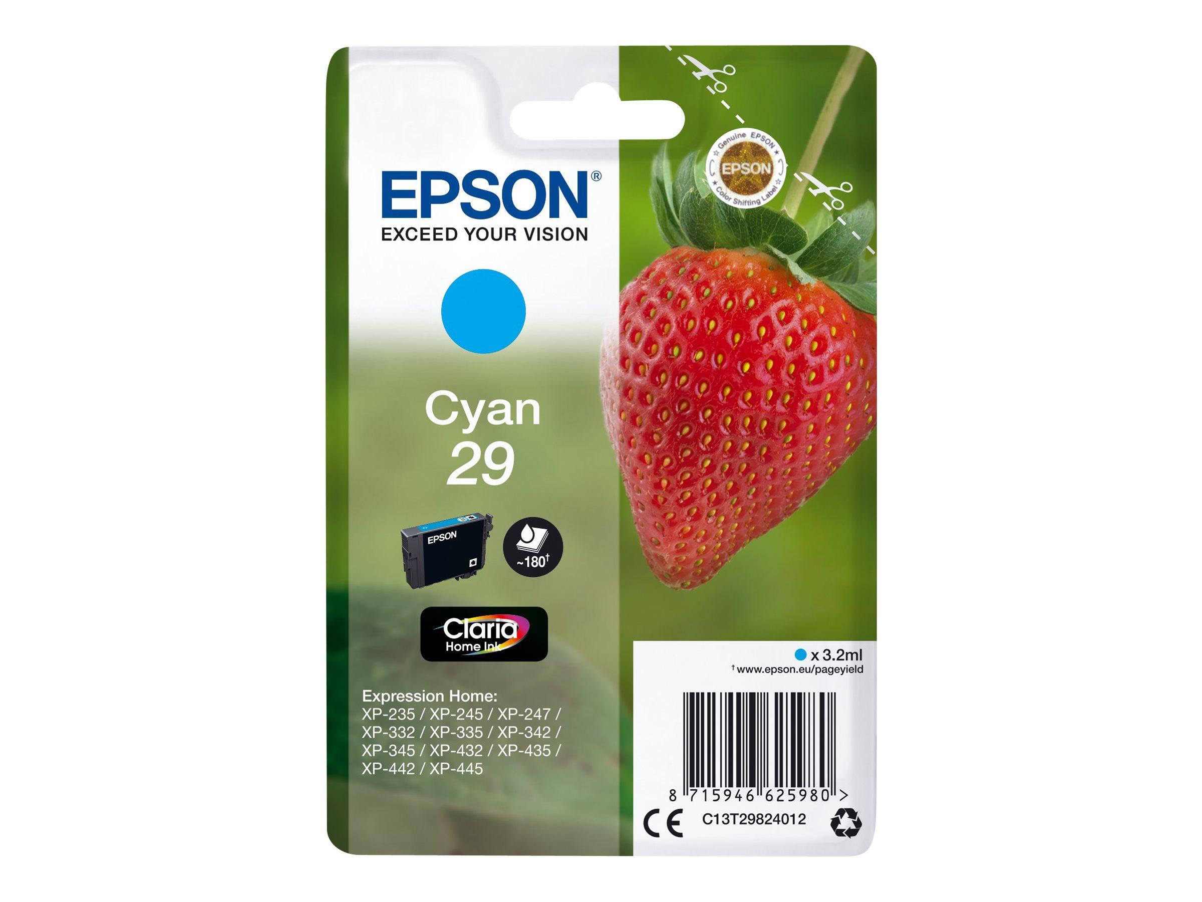 Epson 29 Fraise - cyan - cartouche d'encre originale