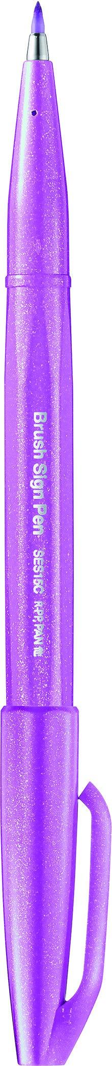 Pentel Sign pen - Feutre pinceau à pointe souple - mauve