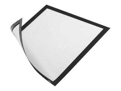 Durable Duraframe Magnetic - 5 Cadres d'affichage magnétiques - A4 - noir - pour surfaces métalliques